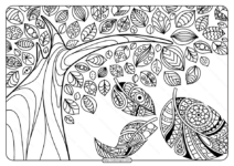 Printable Adult Pdf Coloring Page Book 07