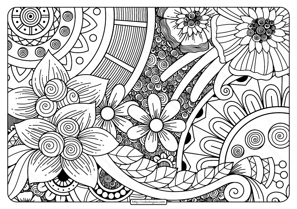 Printable Adult Pdf Coloring Page Book 08
