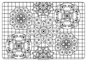 Printable Adult Pdf Coloring Page Book 09