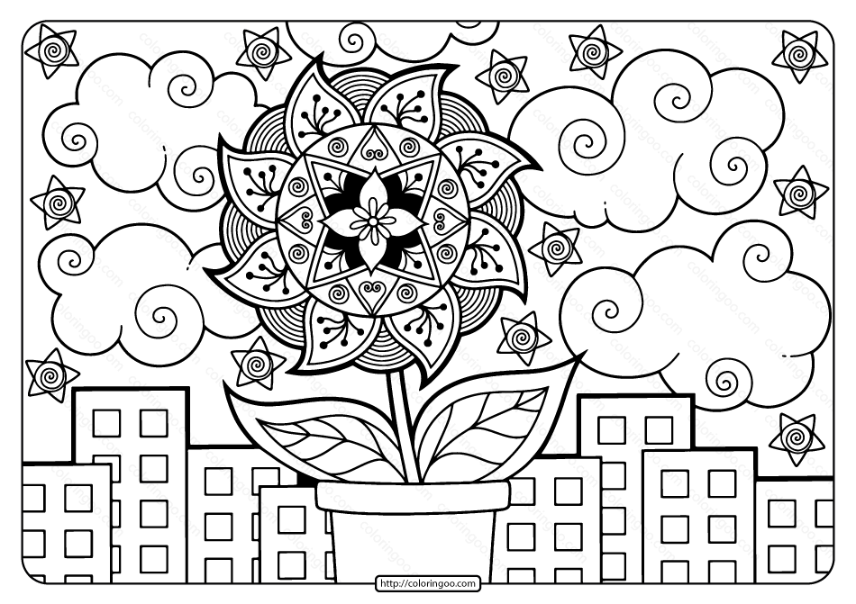 Printable Adult Pdf Coloring Page Book 10