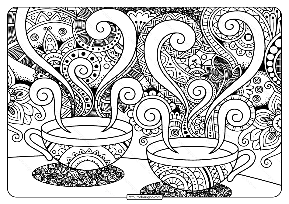 Printable Adult Pdf Coloring Page Book 11
