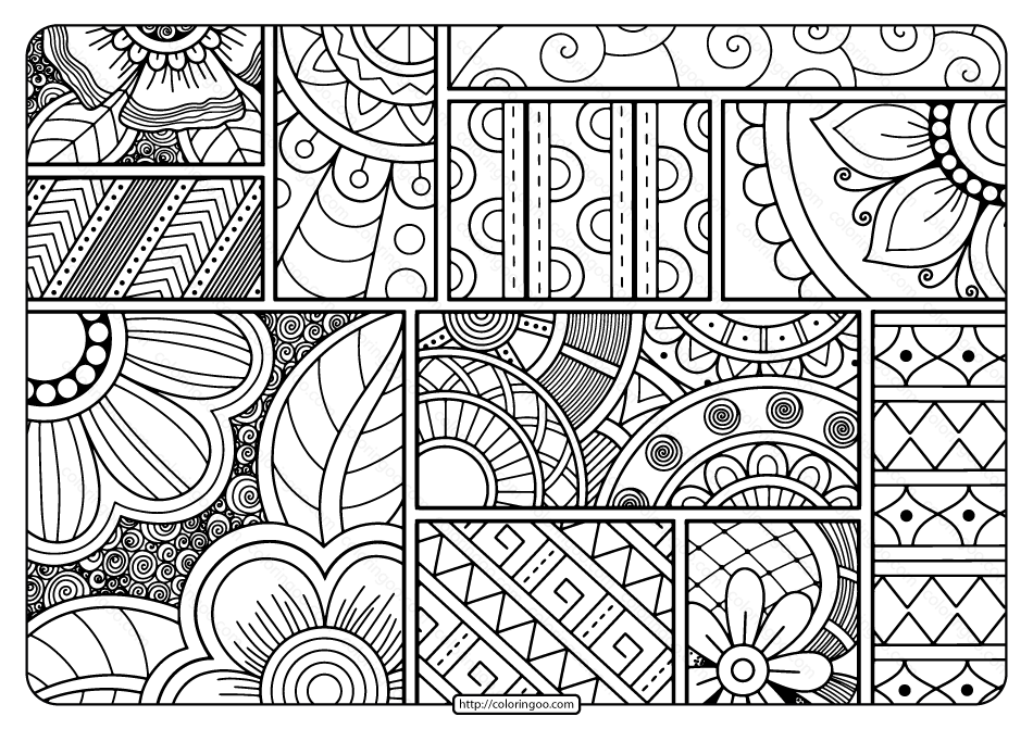 Download Printable Adult Pdf Coloring Page Book 12