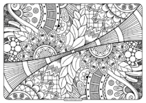 Printable Adult Pdf Coloring Page Book 13