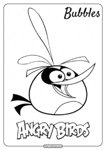 Printable Angry Birds Bubbles Pdf Coloring Page
