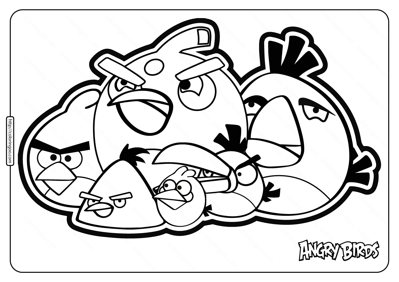Printable Angry Birds Pdf Coloring Pages