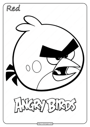 Printable Angry Birds Red Coloring Book