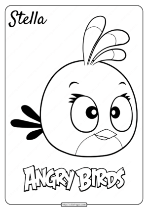 Printable Angry Birds Stella Pdf Coloring Page