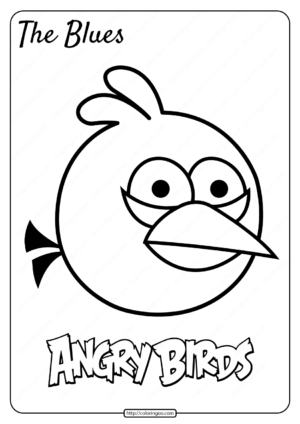 Printable Angry Birds The Blues Pdf Coloring Page