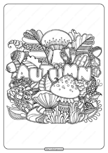 Printable Autumn Pdf Coloring Page Book