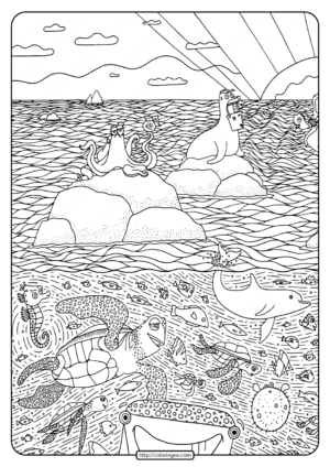 Printable Disney Finding Dory Pdf Coloring Page-01
