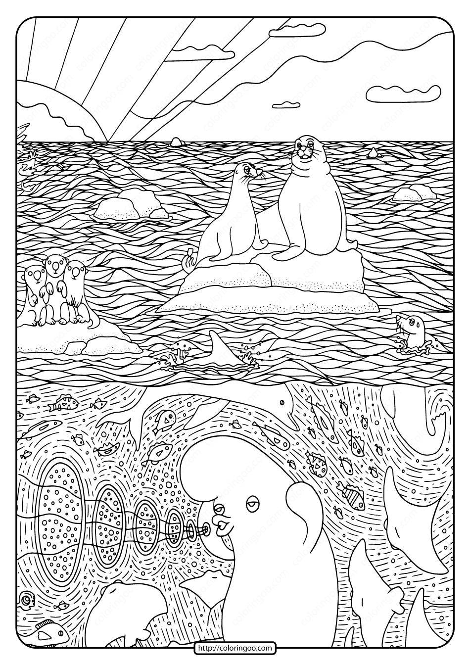 Printable Disney Finding Dory Pdf Coloring Page-02