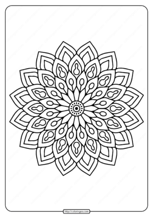 Printable Flower Mandala Pdf Coloring Page