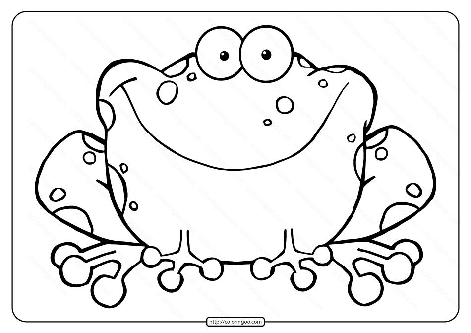 Printable Frog Pdf Coloring Page