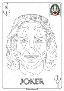 Printable Joker Card Pdf Coloring Page