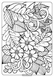 Printable Leaves and Acorns Coloring Page