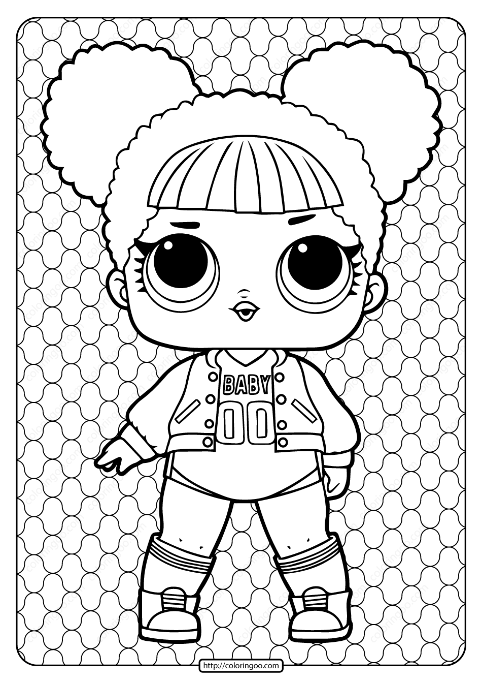Printable Lol Surprise Hoops Mvp Coloring Book