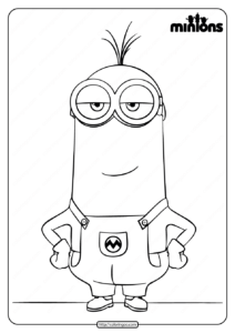 Printable Minions Kevin Pdf Coloring Book