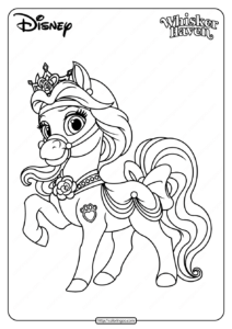 Printable Palace Pets Petit Coloring Page