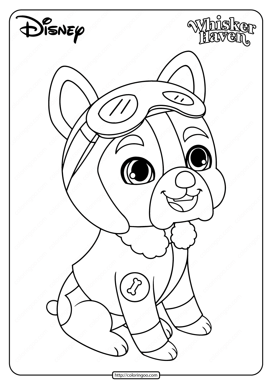 Printable Palace Pets Pilot Coloring Page
