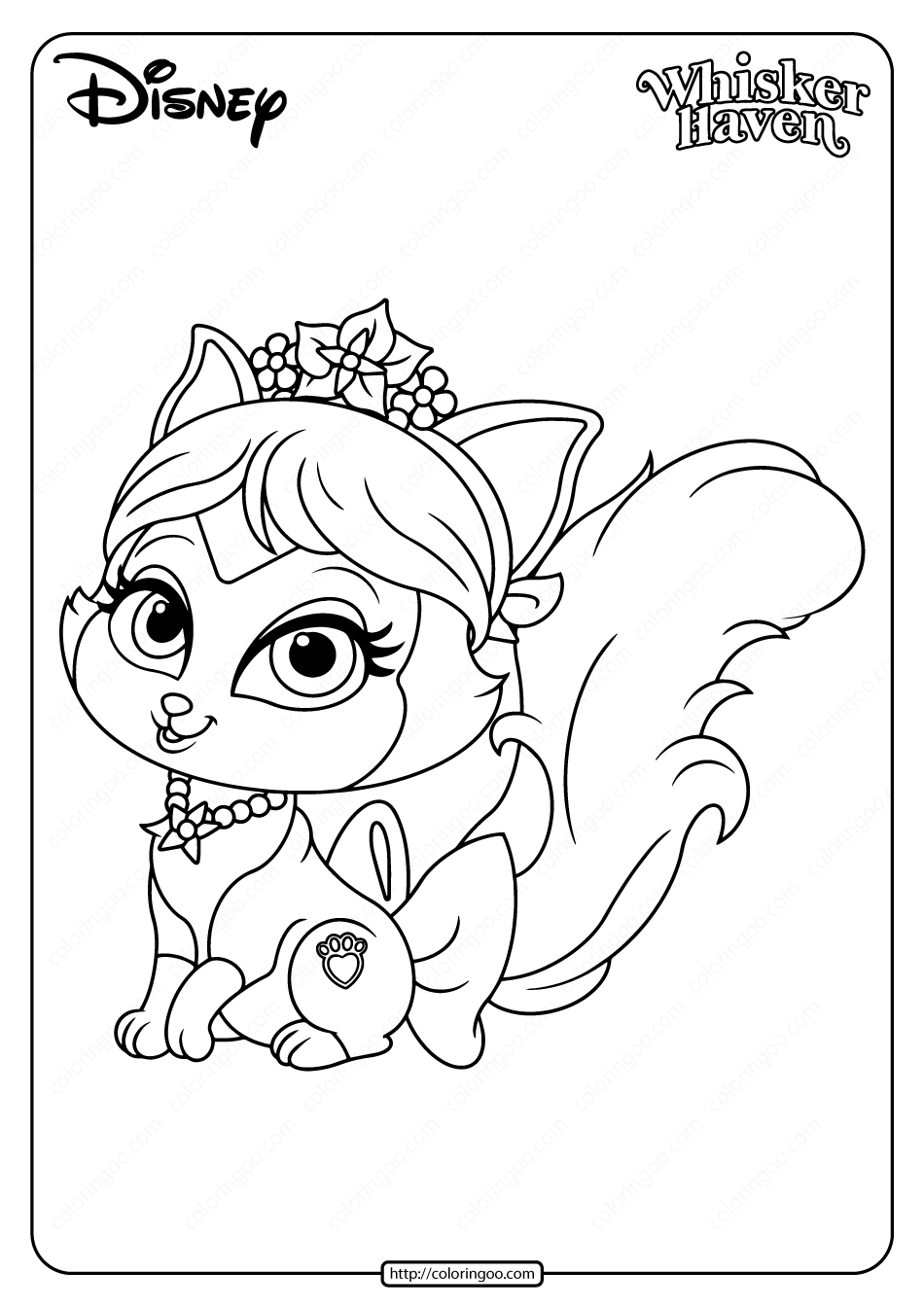 Printable Palace Pets Plumdrop Coloring Page