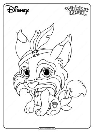 Printable Palace Pets Pounce Coloring Page