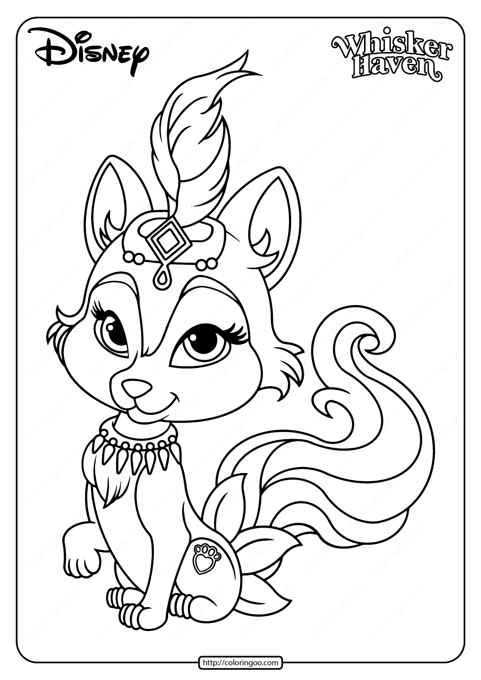 Printable Palace Pets River Coloring Page