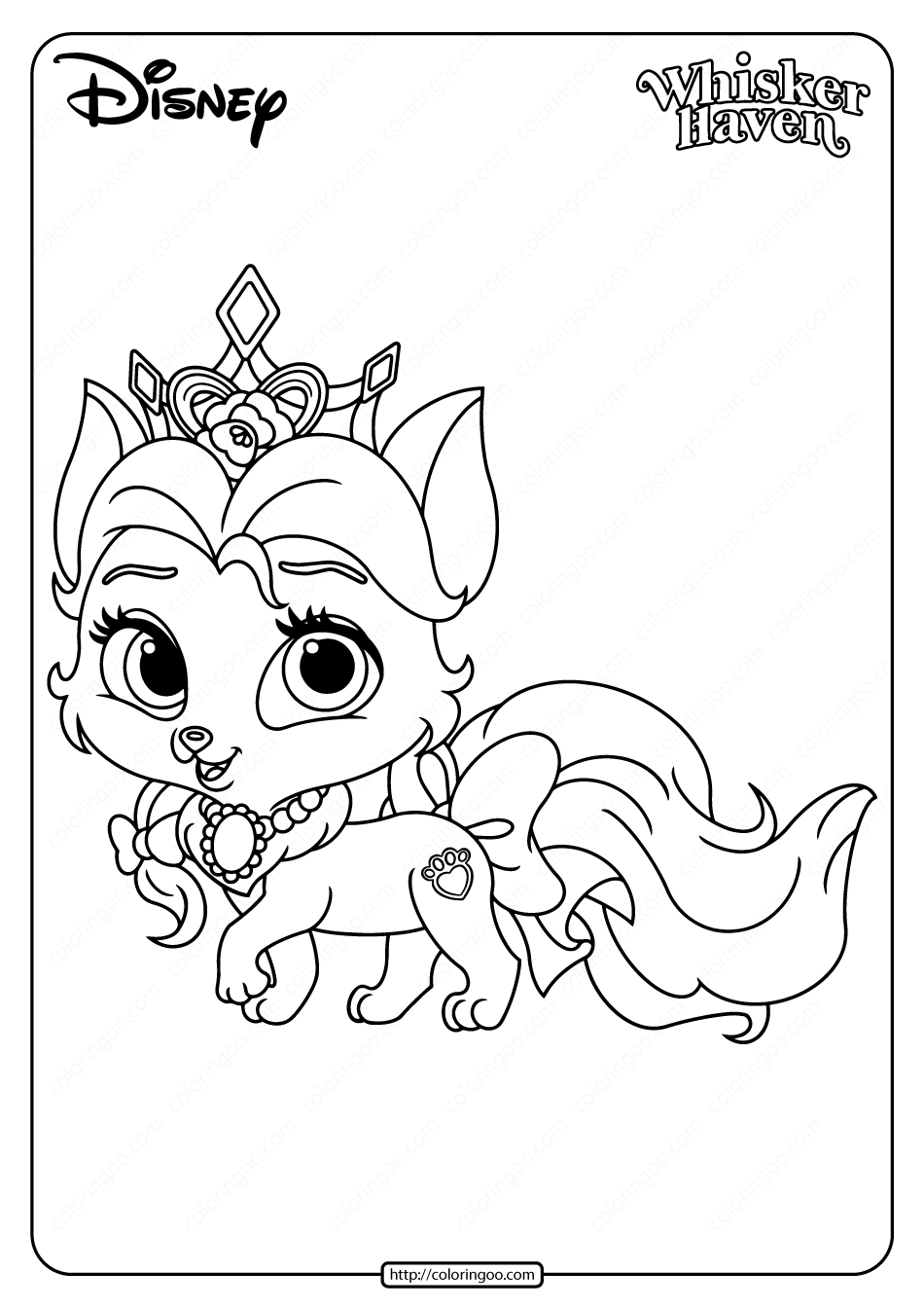 Printable Palace Pets Rouge Coloring Page