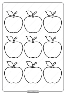 Printable Simple Apple Outline 9 Coloring Page