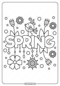 Printable Spring Pdf Coloring Page