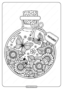 Printable Summer Memories Pdf Coloring Page