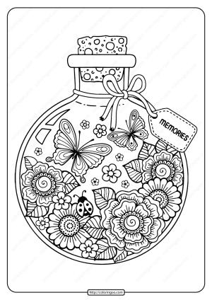Printable Summer Memories Pdf Coloring Page