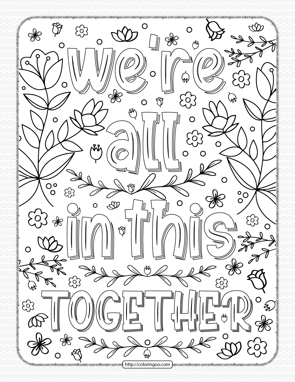 PrintableWe Are All In This Together Coloring Page