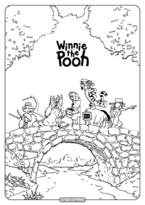 Winnie the Pooh Rabbit Tigger Piglet Coloring Page