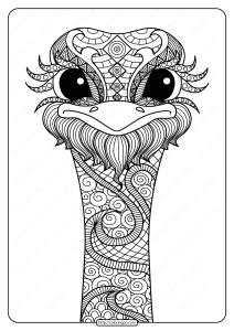 Free Printable Ostrich Mandala Pdf Coloring Page