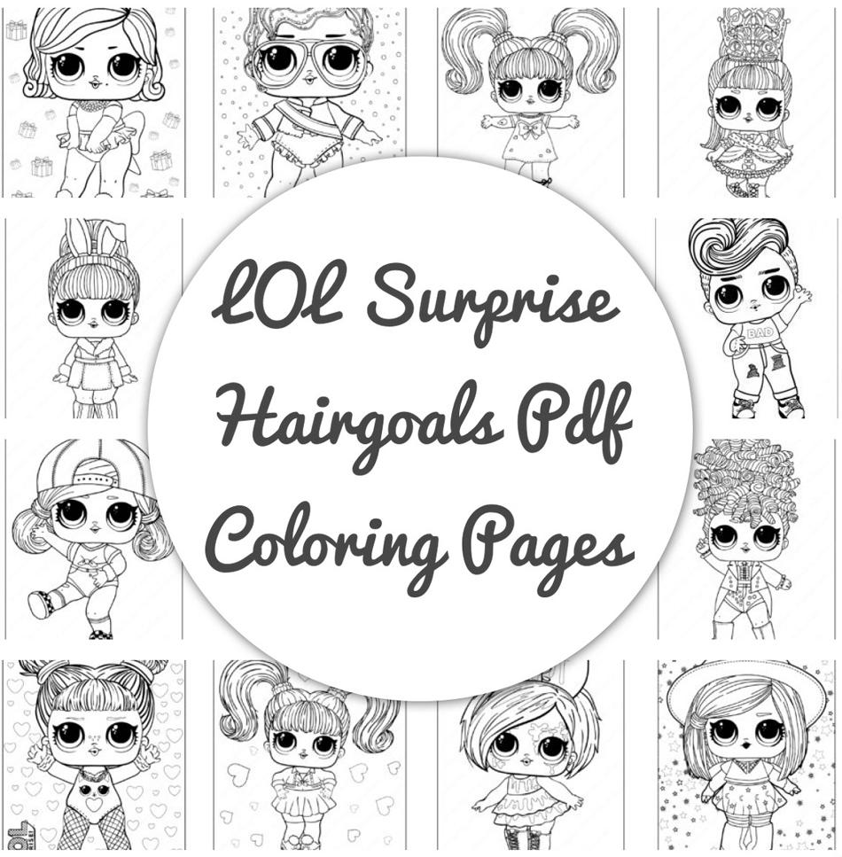 LOL Surprise Hairgoals Pdf Coloring Pages