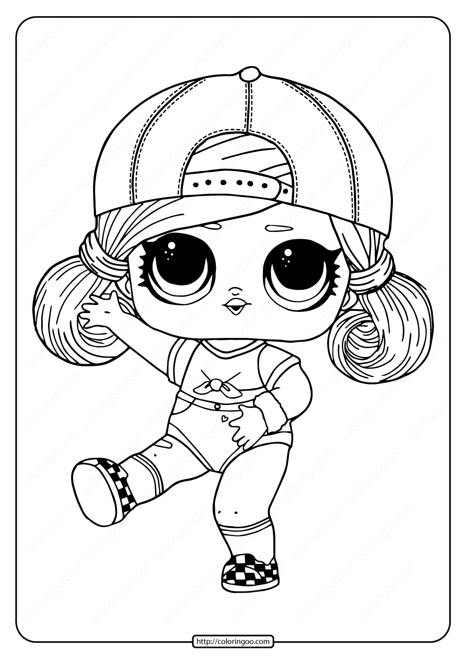 lol surprise hairgoals sk8er grrrl coloring page