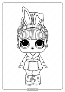 LOL Surprise Hairgoals Snow Bunny Coloring Page