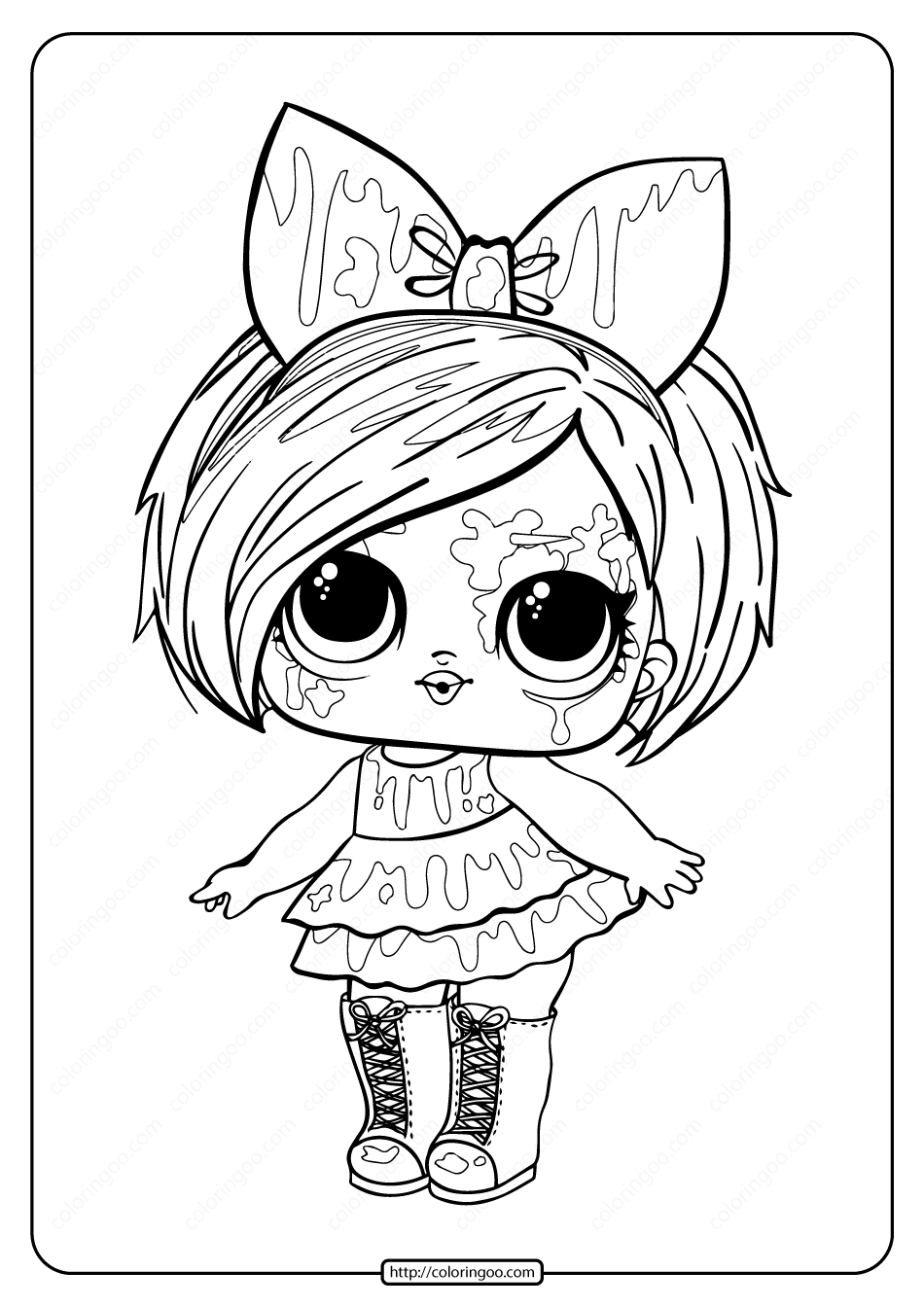 LOL Surprise Hairgoals Splatters Coloring Page
