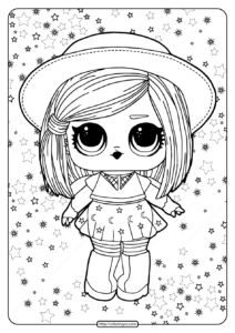 LOL Surprise Hairgoals Witchhay Babay Coloring Page