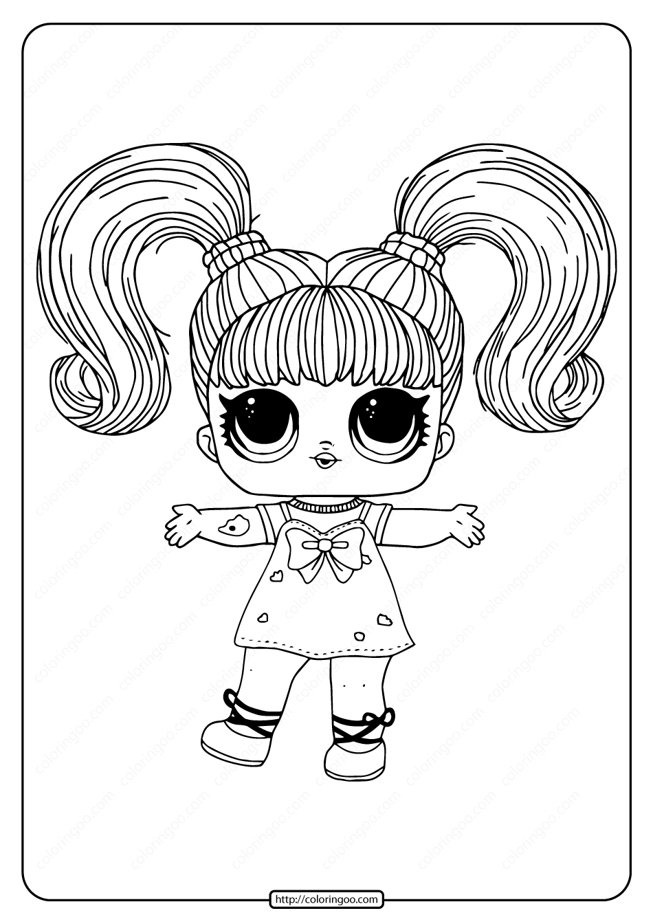 LOL Surprise Hairgoals Yang Q.T. Coloring Page