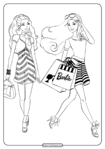 Free Printable Barbie Coloring Pages 03