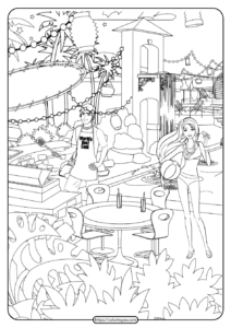 Free Printable Barbie Coloring Pages 04