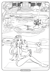 Free Printable Barbie Coloring Pages 07