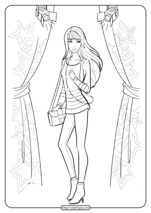 Free Printable Barbie Coloring Pages 08