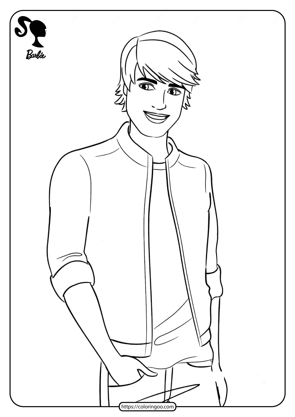 Free Printable Barbie (Ken) Coloring Pages 09