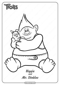 Free Printable Biggie and Mr Dinkles Coloring Page