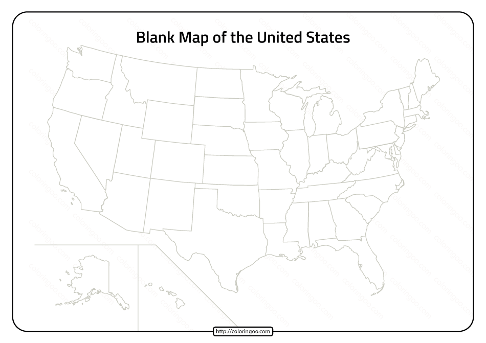 Free Printable Pdf Blank Map Of United States