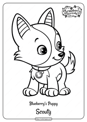 Printable Blueberrys Puppy Scouty Pdf Coloring Page