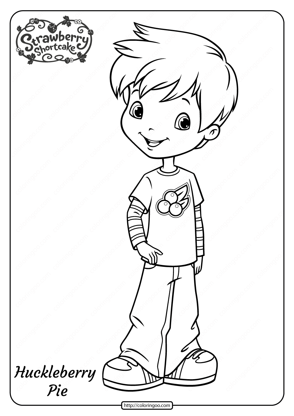 Free Printable Huckleberry Pie Pdf Coloring Page