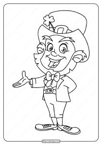 Free Printable Leprechaun Pdf Coloring Page